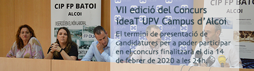 Concurs ideaT UPV Campus d'Alcoi